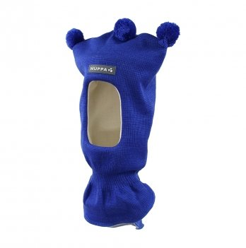 Вязаная шапка-шлем для малышей Huppa Coco 2 70035 синий