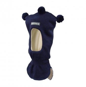 Вязаная шапка-шлем для малышей Huppa Coco 2 70086 темно-синий