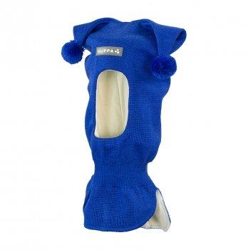 Вязаная шапка-шлем для малышей Huppa Coco 3 70035 синий
