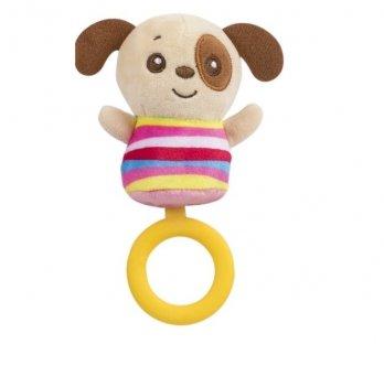 Мягкая игрушка с кольцом-грызунком Baby Team 8512 Собачка