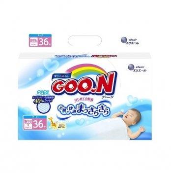 Подгузники GOO.N для новорожденных до 5 кг, размер SS, на липучках, унисекс, 36 шт.