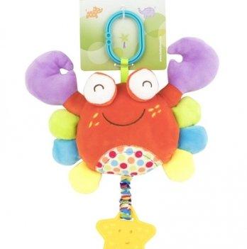 Мягкая многофункциональная игрушка-прорезыватель Baby Team 8533 Краб