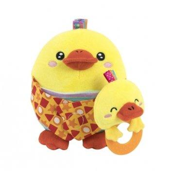 Мягкая игрушка Baby Team Мама с малышом 8536 Цыпленок