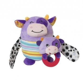 Мягкая игрушка Baby Team Мама с малышом 8536 Коровка