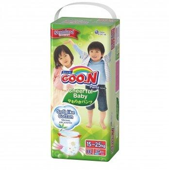 Трусики-подгузники GOO.N для детей 15-25 кг размер XXL унисекс, 34 шт., 853883