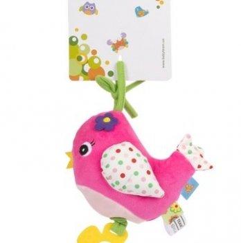 Игрушка-подвеска музыкальная Baby Team 8543 Птичка розовая