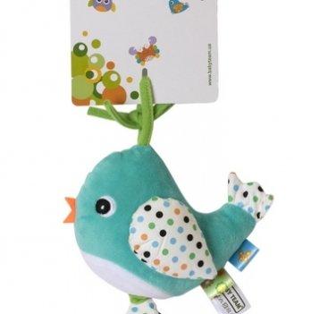 Игрушка-подвеска музыкальная Baby Team 8543 Птичка голубая