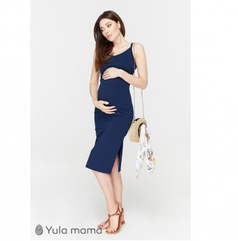 Сарафан для беременных и кормящих MySecret Nita Темно-синий SF-20.091