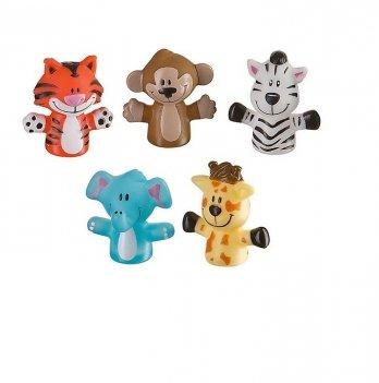 Набор игрушек на пальцы Весёлая детвора Baby Team 8700 Сафари с обезьянкой