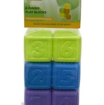 Набор кубиков Baby Team 8852 Темные 6 шт
