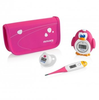 Комплект из 3 цифровых термометров Miniland Baby, Thermokit, розовый