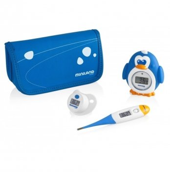 Комплект из 3 цифровых термометров Miniland Baby, Thermokit, синий