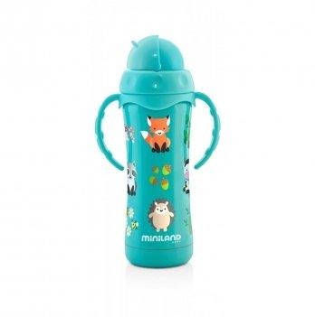 Термопоильник Miniland Baby, Thermokid Aqua с трубочкой, 240 мл