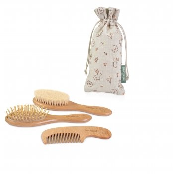 Набор деревянных расчесок Miniland Baby Natur Haircare Bunny 89339