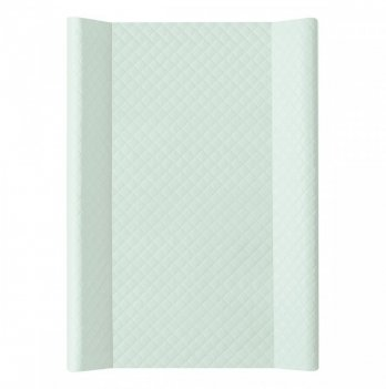 Пеленальный матрас Ceba Baby Caro жесткий, мятного цвета, 50х70 см