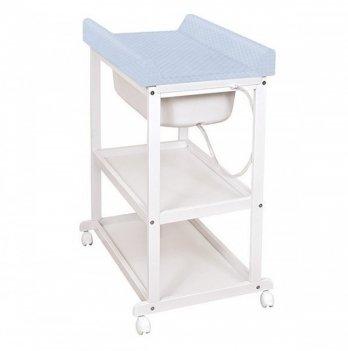 Пеленальный столик Ceba Baby Laura с матрасиком Caro, голубой
