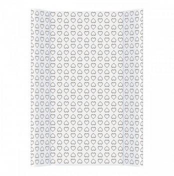 Пеленальный матрас Ceba Day&Night, 50х70 см, белый с узором сердечки