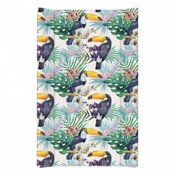 Пеленальный матрас Ceba Baby Flora&Fauna, 50х80 см, разноцветный с узором туканы