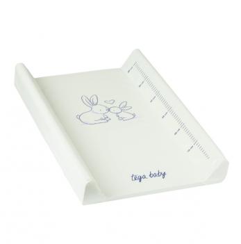 Пеленальный матрас Tega baby Зайчики Мятный 50*70 см KR-009-105