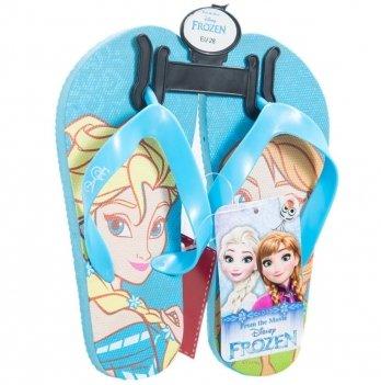 Шлепанцы-вьетнамки Disney Холодное сердце (Frozen), голубые