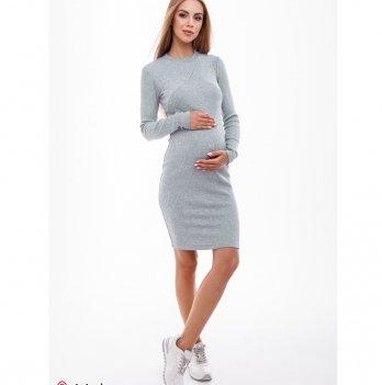 Платье для беременных и кормящих MySecret Marika DR-49.141 серый меланж