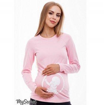 Лонгслив-реглан для беременных MySecret Deliyababy LS-38.012 розовый