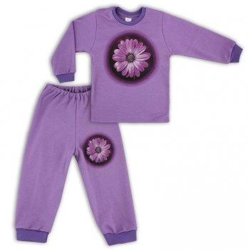 Пижама 3D цветок PaMaYa 9-07н-3 сиреневый 5 лет