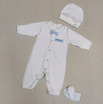 Комплект для крещения мальчика PaMaYa Молочный 0-6 мес 9-47-2