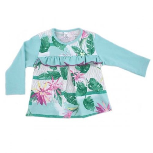 Джемпер для девочки PaMaYa Цветы и папоротник 9-52