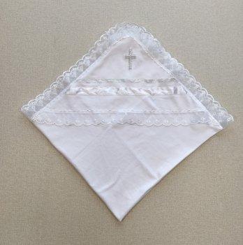 Крыжма для крещения PaMaYa 9-87 Белый Интерлок 80х80 см