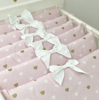 Бортики в кроватку Маленькая Соня Happy Baby Розовый 075009