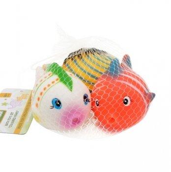 Набор игрушек для ванны Baby Team Разноцветные рыбки 3 шт.