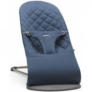 Кресло-шезлонг Balance Midnight blue Mesh BabyBjorn для детей от рождения до 2 лет (до 13 кг)