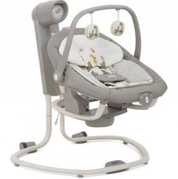 Кресло-качалка 2 в 1 Joie Serina In the Rain, цвет серый