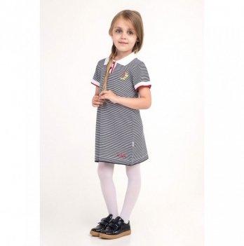 Платье полосатое ТМ Lutik вышивка парусник