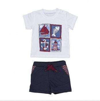 Комплект футболка и шорты BebePan (темно-синие) SEAMAN