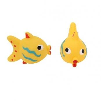 Игрушка для ванны Baby Team 9015 рыбка желтая
