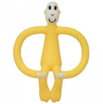 Игрушка-прорезыватель Matchistick Monkey Обезьянка, 10,5 см, желтая