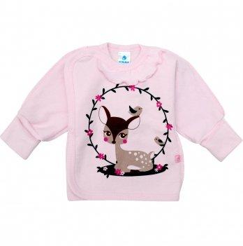 Распашонка для девочки Minikin Малышка лань, розовая