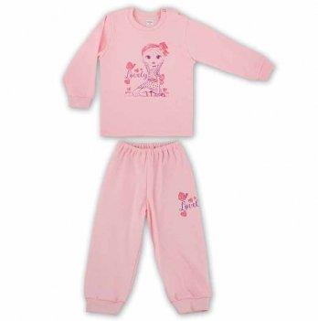 Пижама для девочки PaMaYa Розовый 91-07н-1