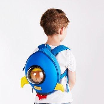 Детский рюкзак SuperCute Ракета, голубой