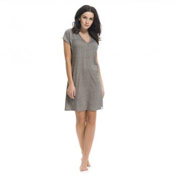 Ночная сорочка для беременных и кормящих женщин Dobranocka, TCB.9117 dark grey