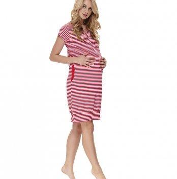 Домашнее платье для беременных и кормящих женщин Dobranocka TCB.9625 red