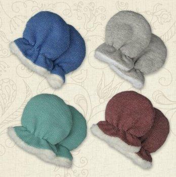 Перчатки Happy baby футер Бетис синий