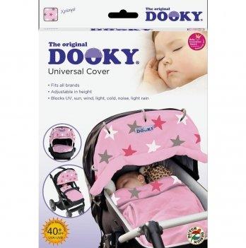 Защитная накидка на коляску и автокресло Dooky Baby -Baby Pink Stars