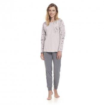 Пижама женская Dobranocka,  PM 9317 pink grey