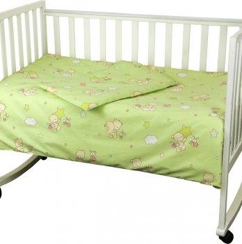 Детский комплект постельного белья ТМ Руно, Ведмедик-пузатик салатовый