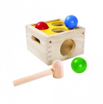 Деревянная развивающая игрушка PlanToys® Забивалка