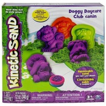 Песок для детского творчества Wacky-Tivities Kinetic Sand Doggy (фиолетовый, зеленый, формочки, 340 г)