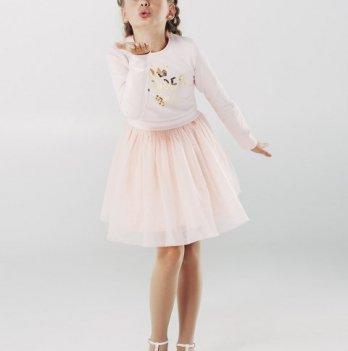 Платье для девочки, розовый персик, возраст от 12 до 18 месяцев, SMIL
